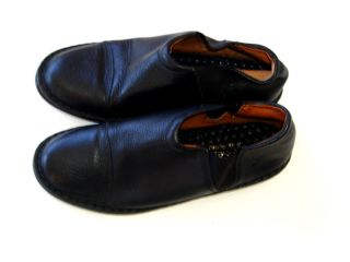 Josef Seibel 39 8 8 5 Black Leather Loafers Comfortable Shoes
