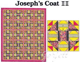 Joseph's Coat Quilt Block Quilt Quilt Sewing Pattern Templates