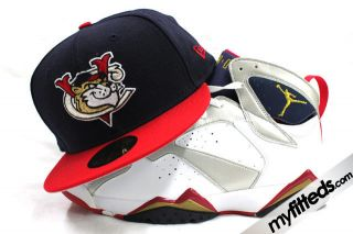 Tri City Valley Cats Air Jordan Retro Olympic 7 Matching New Era Hat Cap Only