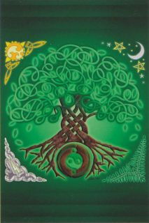 Irish Celtic Knot Tree of Life Holy Post Card 4 Inch x 6 Inch