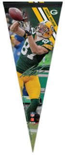 Jordy Nelson SIGNATURE SERIES Green Bay Packers Premium Felt Pennant LE 1000