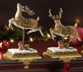 2 Joseph's Studio Reindeer Christmas Stocking Holders