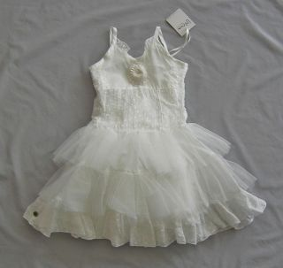NWT Jottum Girls Swarose Soft Ivory Dress 4Y 4 Sz 104 Tulle Flower RRP $290