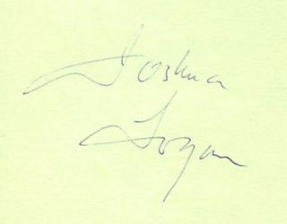 JOSHUA LOGAN 1970s ORIGINAL SIGNED ALBUM PAGE AUTOGRAPH 1975 TRIBUTE PROGRAM