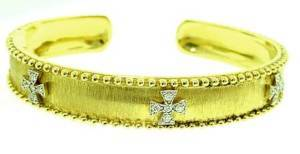 Jude Frances Diamond Maltese Cross Bracelet 18K YG