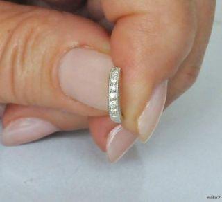 Beautiful New JUDE FRANCES Small White 18K Gold Diamond Hoop Earrings