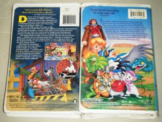 Rescuers Down Under Oliver Company Walt Disney Animated VHS Movie Collection