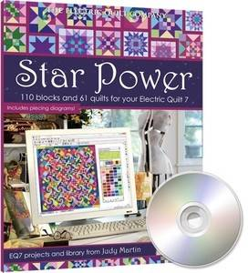 Electric Quilt EQ7 Judy Martin Star Power Quilt Design Add On Software
