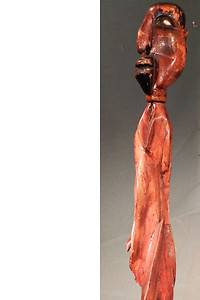 Antique African American Carved Wood Cane Bust Portrait Joseph Signed Folk Art
