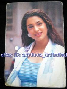 Bollywood Actor Juhi Chawla India Star RARE Old Post Card Postcard Mem EHS