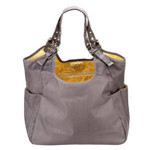 JP Lizzy Slate Citron Satchel Diaper Bag Purse Tote