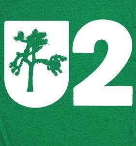 U2 Joshua Tree vintage T SHIRT green Irish concert rock band 80s Tee