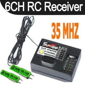 6CH FM 35 MHz RC Radio Receiver Crystals for Futaba Jr