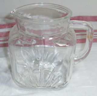 Federal Star Glass Juice Pitcher