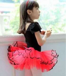 New Girl Birthday Party Leotard Ballet Tutu Dance Skate Skirt Costume Dress 3 8Y |