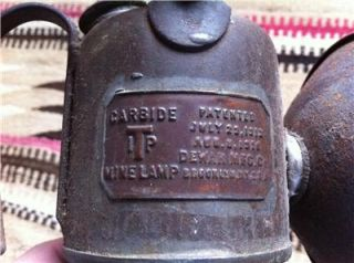 Antique 1918 ITP Carbide Mine Lamp Dewar Mfg Brooklyn NY Old Miner's Lamp