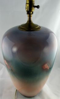"Judith Stiles Large Lamp Signed Art Pottery 13"" Ceramic"