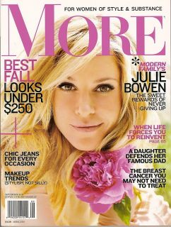 More Magazine Julie Bowen Modern Family Breast Cancer September 2011