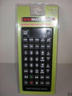 Jumbo Universal 6 in 1 Remote in Black New