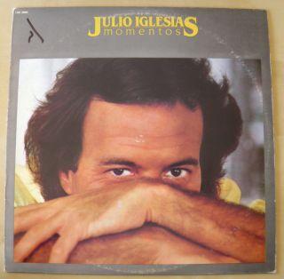 JULIO IGLESIAS MOMENTOS VINYL LP ISRAEL PRESS RECORD CBS 25002 1982
