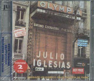 JULIO IGLESIAS, EN EL OLYMPIA. LIVE. FACTORY SEALED 2 CD SET. IN