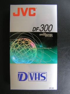 JVC DF 300 D VHS DVHS Blank Tape New SEALED