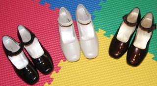 Jumping Jacks Girls Dress Shoes Size 5M White Black Brown