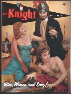 JUNE WILKINSON RUSS MEYER SIR KNIGHT MAGAZINE VOL.1 NO. 7 JULY 1959