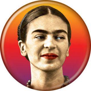 Frida Kahlo Face Button 80200