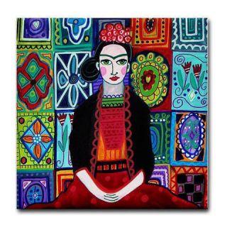 Frida Kahlo Tile Mexican Folk Art Ceramic Coaster Talavera Tiles Art