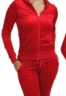 SiZE L SEXY RED TERRY CLOTH TRACKSUiT/LOUNGE SET HOODiE W/ KANGAROO