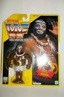 KAMALA MOON BELLY WWF HASBRO SERIES 7 YELLOW CARD WRESTLING FIGURE MOC