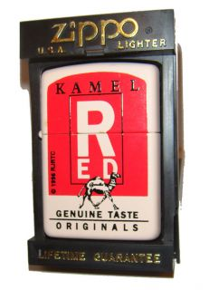Zippo Lighter Camel 1995 Kamel Red RARE Discontinued