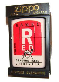 Zippo Lighter Camel 1995 Kamel Red RARE Discontinued