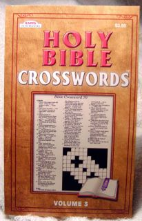 Holy Bible Crosswords Puzzle Book V 3 by Kappa New