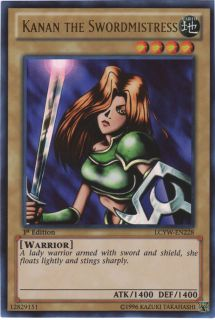 Kanan The Swordmistress Lcyw EN228 Ultra RARE Holo Yugioh Card Mint
