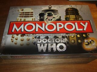 WHO MONOPOLY 50th Anniversary limited edition Matt Smith Karen Gillan