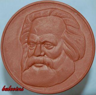 Germany Meissen Porcelain Medal Karl Marx 62 50 Mm