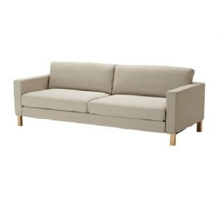 IKEA Karlstad Sofabed Slipcover Sivik Beige Three Seat Sofa Bed Cover