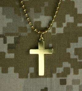 Gi Jewelry 23 Karat US Military Pendant Cross Necklace