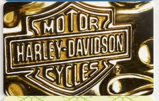 Harley Davidson Motorcycles Bar Shield Gift Card Collectible