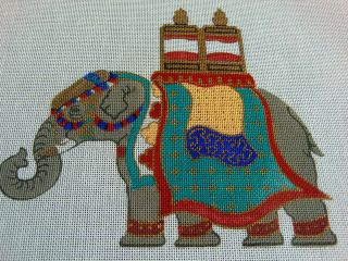 Kathryn Molineux HP 7 x 8 Handsome Elephant Outfitted for Royalty