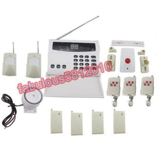 Wireless Home Security System Alarm Auto Dialing Anti Fire Burglary