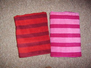 Personalized Embroidered Striped Beach Bath Towels