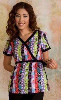 Koi Kathryn Kimono Scrub Top Size 2X Black Multi Color Cheap Shipping