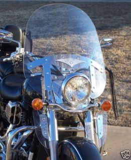 Kawasaki Vulcan 1500 Nomad Clear Windshield with LOWERS