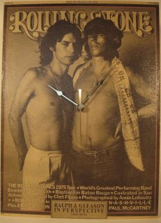 Mick Jagger Keith Richards Rolling Stone Clock 1975