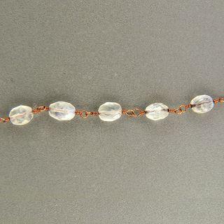 Kelso Design 14k Pink Gold Wire Cabochon Blue Moonstone Bead Bracelet
