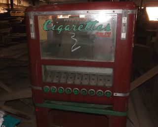 Vintage Keeney Model A Cigarette Vending Machine