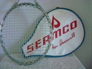 Wilson T3000 Tennis Racket w Seamco Ken Rosewall Cover EUC